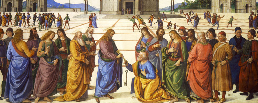 Perugino, Christ Giving the Keys of the Kingdom to St Peter